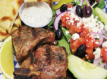 Grilled Lamb Chips with Tzaziki